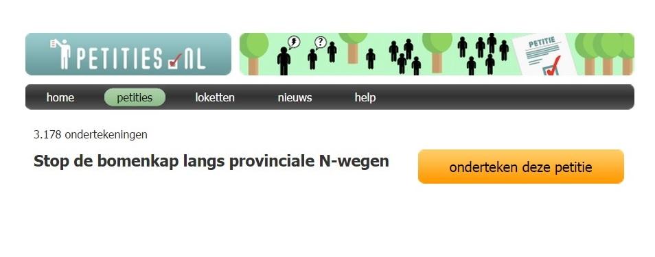 Petitie Tegen kap 6.000 bomen