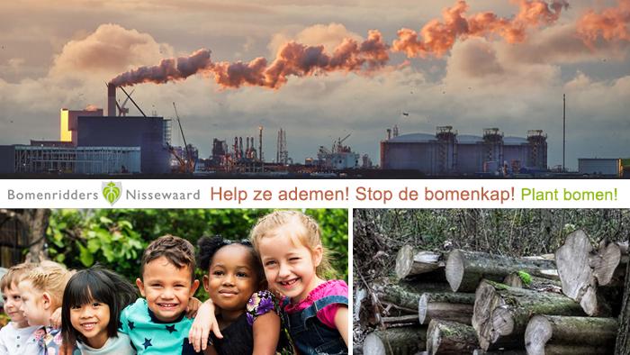 Help ze ademen! Stop de bomenkap!